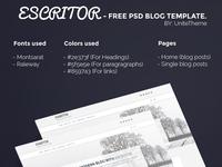 Escritor – Free PSD Blog Template
