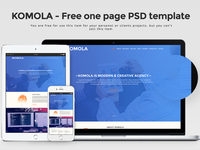 KOMOLA – Free one page PSD template