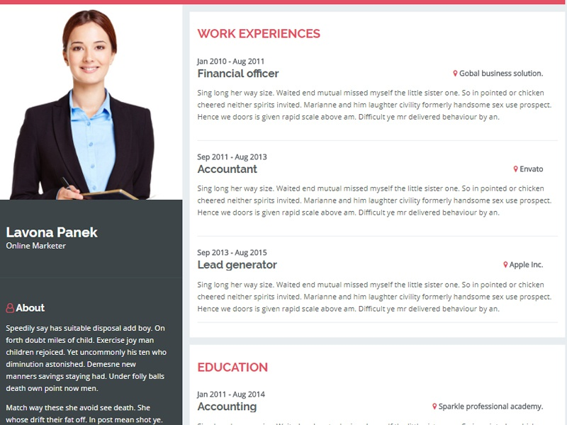 Introduction – Personal Resume Website Template