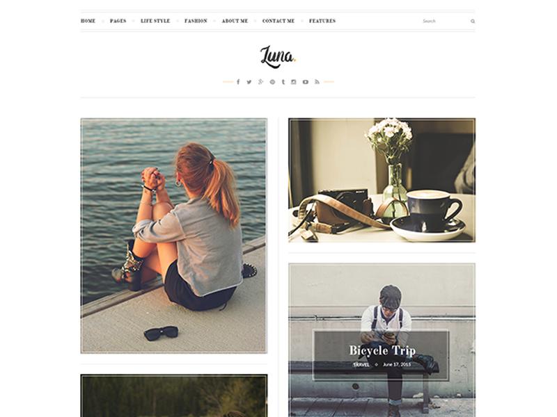 LUNA Free Elegant Blog PSD Template