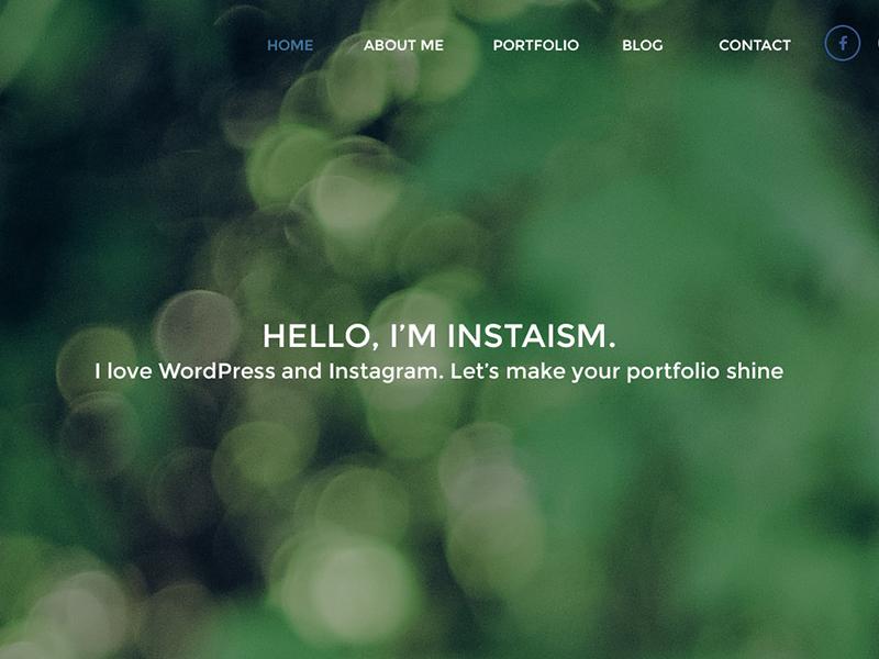 INSTAISM – Free PSD Template