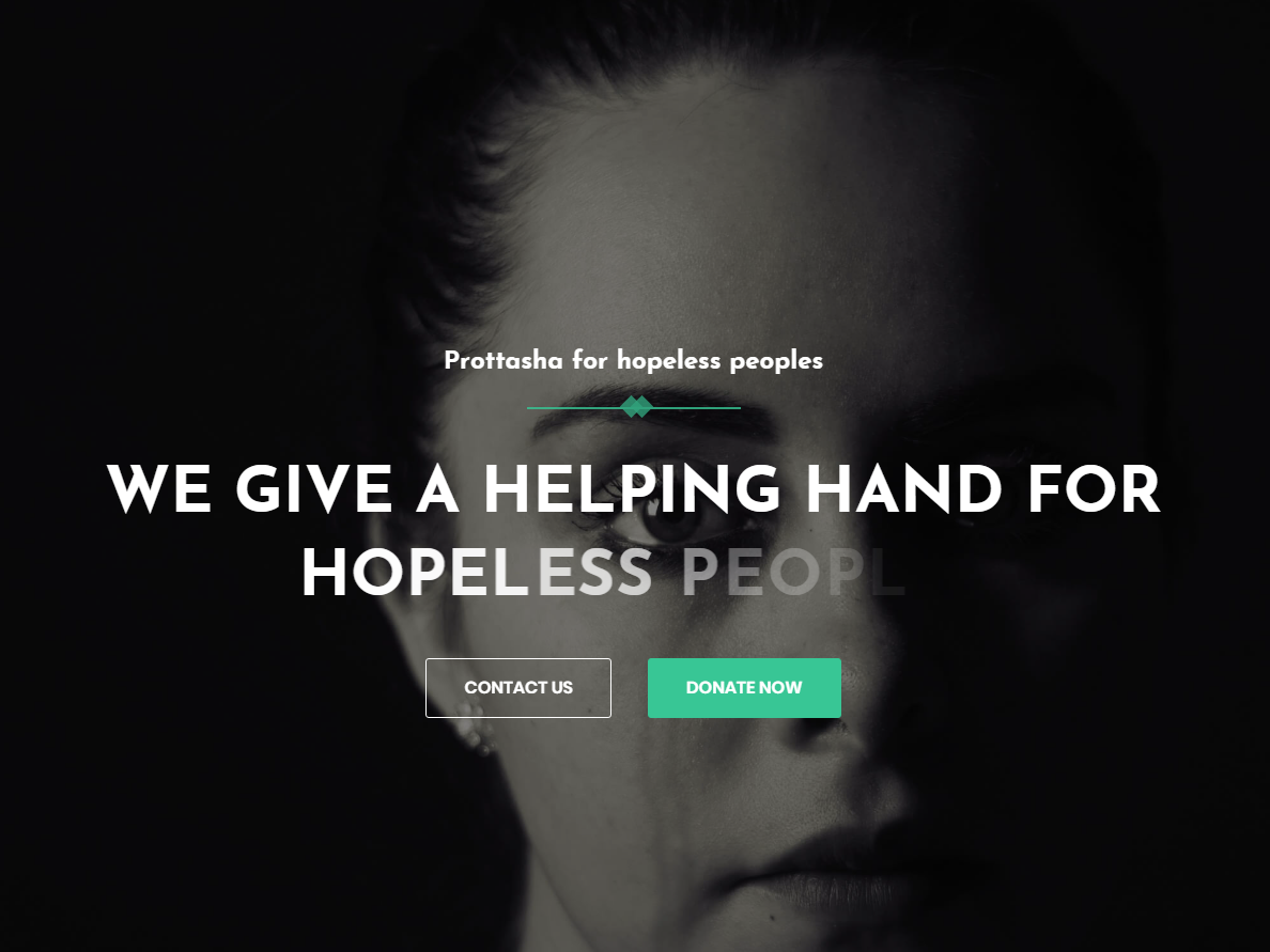 Prottasha - Bootstrap 4 Charity Landing Page by UniteTheme on Dribbble