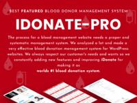 IDonatePro - Blood request and donor management WordPress plugin