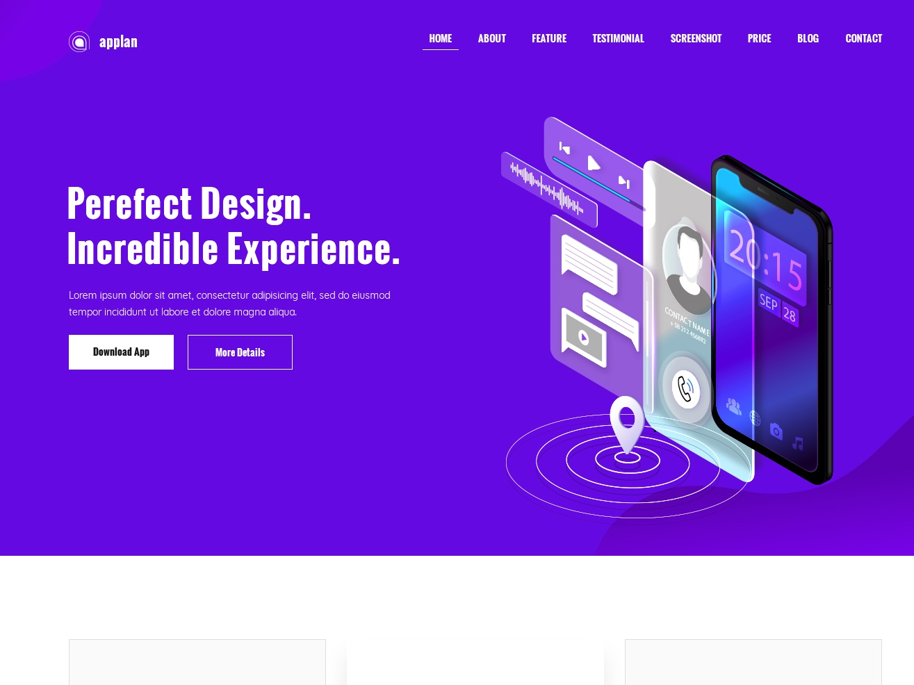 Appiya – PSD landing page template apps design apps ladningpage clean bootstrap design creative minimal free blog freebie