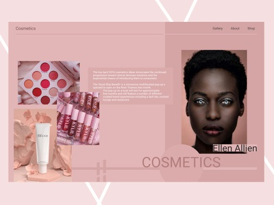 Cosmetics designs desinger desing website cosmetic cosmetics webdesign uidesign ui design web design