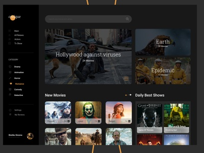 Movies movie web ui design web design uidesign ui website webdesign cinema movies