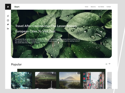 Travel Web Design landing website webdesign web ui design ui