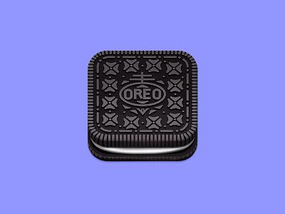 Oreo Cookie Icon oreo cookie icon ios iphone app illustration