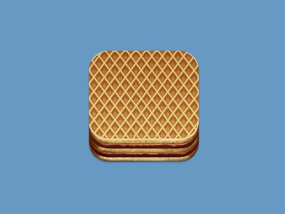 Wafer Cookie Icon app cookie icon illustration ios iphone wafer