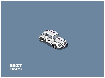 8 Bit Cars | Herbie 8 bit cars pixel art