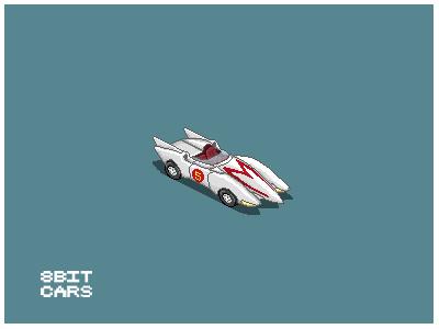 8 Bit Cars   Mach 5 8 bit cars pixel art