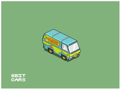 8 Bit Cars | Mystery Machine 8 bit cars pixel art