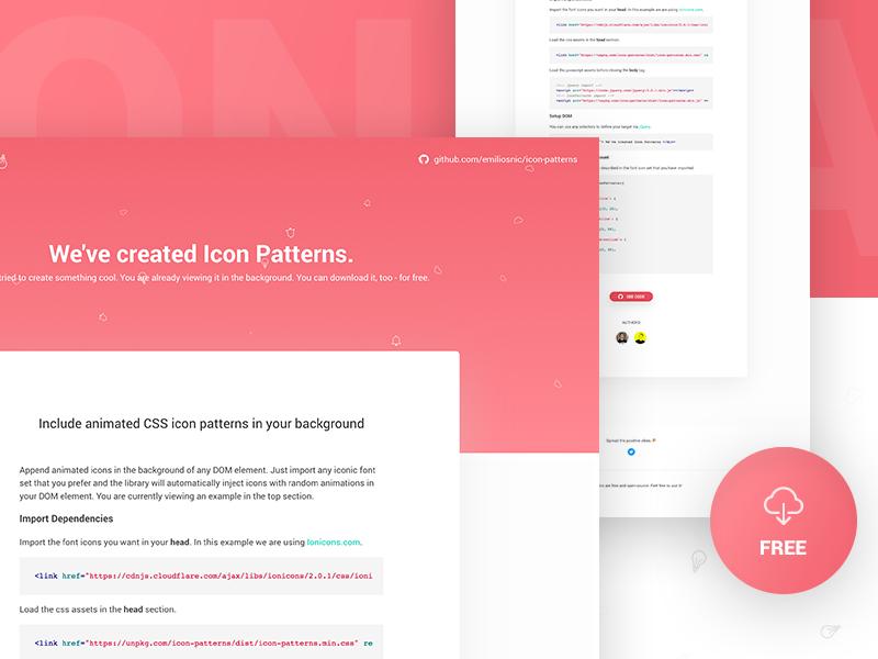 [FREE] Plugin – Icon pattern