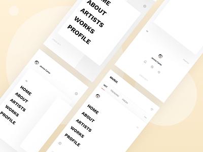 App navigation - Expanded profile typography menu off-canvas fullscreen ui app sidebar expanded navigation