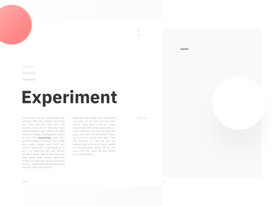 Type & Grid — Initial experiment typeface font composition layout typography grid type