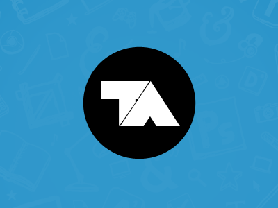 Portfolio intro tobias ahlin logotype logo blue black white circle portfolio ta