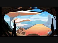 Cartoon Environment Concept 100% vector