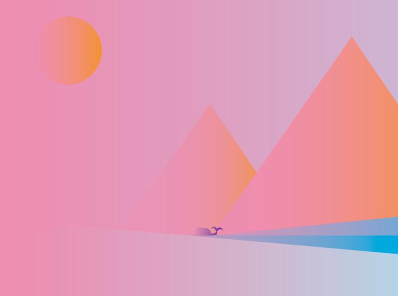Sunset adobe illustrator abstract vector adobe artwork artist art design flat illustration