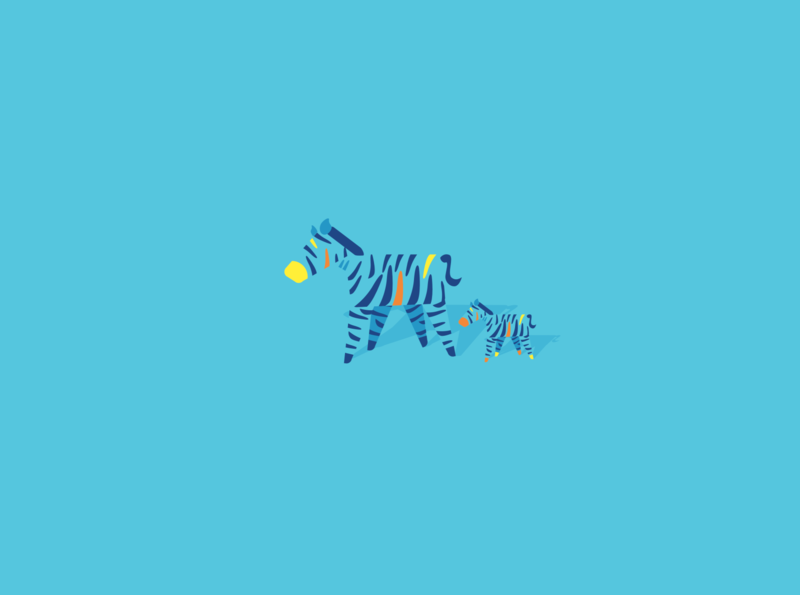 Daddy Zerba graphic design simplistic zoo artwork minimalistart minimalist blue illustration art zerba animal arts minimal cute abstract vector adobe adobe illustrator artist illustration art