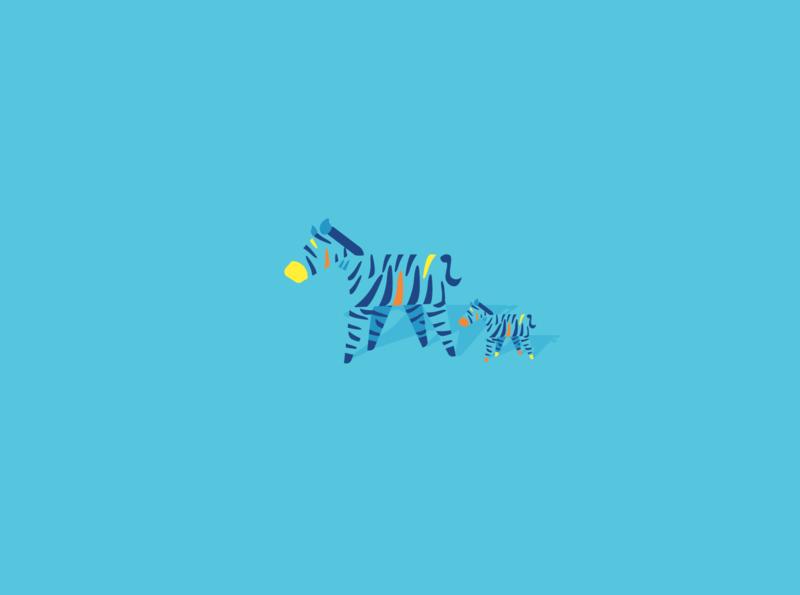 Daddy Zerba graphic design simplistic zoo artwork minimalistart minimalist blue illustration art zerba animal arts minimal cute abstract vector adobe adobe illustrator artist illustration art