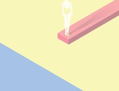 Challenge yellow minimalist minimal artwork abstract vector adobe illustrator adobe design artist art illustration
