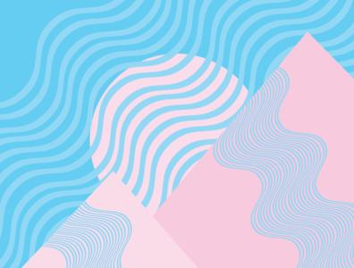 Abstract | Illustration simple graphic design geometric art geometry lineart line abstract art landscape pink flat blue minimalist cute illustration artwork adobe illustrator abstract minimal vector illustration
