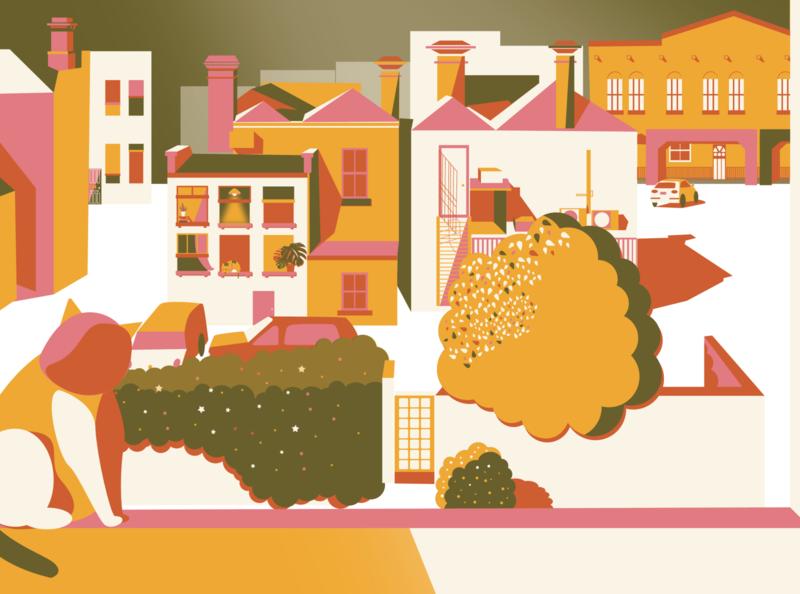 Minimalist Illustration concept art background background design simplicity cat minimalist art simple design less is more landscape illustration flat design adobe vector artwork design cute illustration adobe illustrator abstract artist art minimal