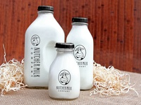 Nutcher Milk Company Bottle Design