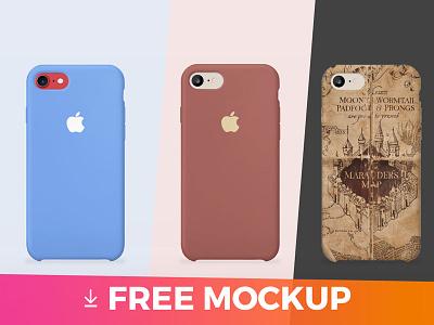 iPhone 7 cover MOCKUP mobile mock-ups mockups mock-up template freebie download free mockup cover iphone 7 iphone