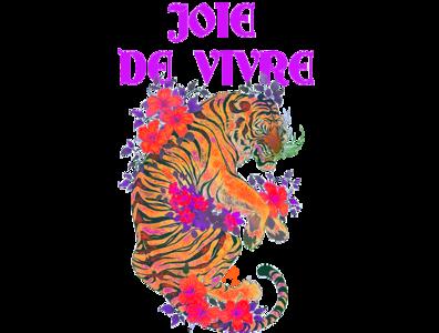 Joie de Vivre   T-shirt Print tiger vintage design print design print