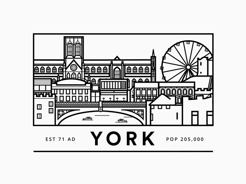 York greyscale snapchat filter united kingdom line illustration york