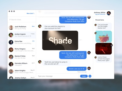 UI Challenge: Clean Chat messenger visuals user interface chat ui ui challenge