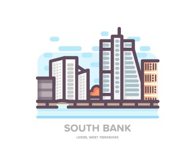 South Bank, Leeds illustration united kingdom leeds south bank