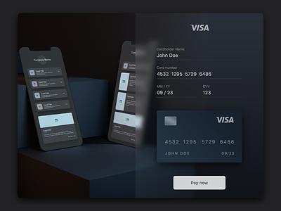 credit card concept checkout concept credit card design dark mode credit card checkout e-shop online payment e-comerce credit card payment credit card ecommerce checkout