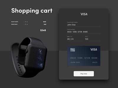 shopping cart concept dark theme checkout e-comerce credit card checkout credit card design dark mode credit card online payment credit card payment ecommerce