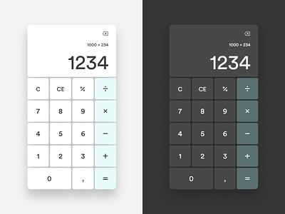 Daily UI 004 - calculator dark mode daily 100 challenge dailyuichallenge daily ui dailyui calculator minimalistic minimalism design