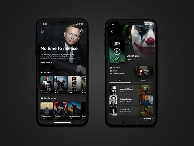 Movie app design mobile application mobile app dark mode mobile app design mobile design mobile ui movie app