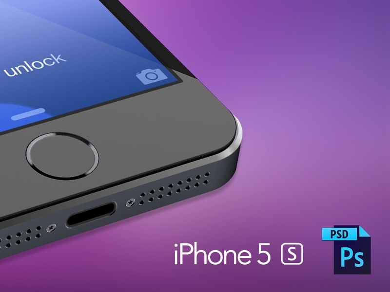 iPhone 5S PSD psd iphone 5 s mockup 3d render cinema 4d vray