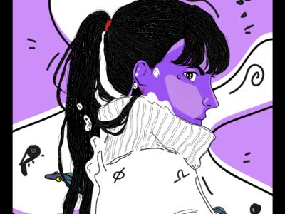 Luna adobe graphic streetwear ink art alchemy illustration design