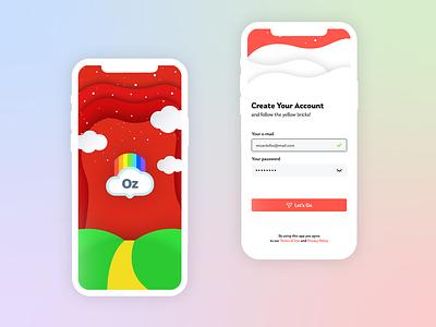 Travelling App - Oz logo ux app design