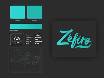 Brand - Zéfiro IoT typography vector branding logo design