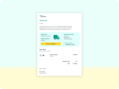 DailyUI #017 Email Receipt webshop ux customer support delivery confirmation order dailyui017 receipt email ui web design dailyuichallenge dailyui