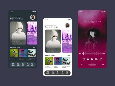 Music App UI Design ui design dailyui