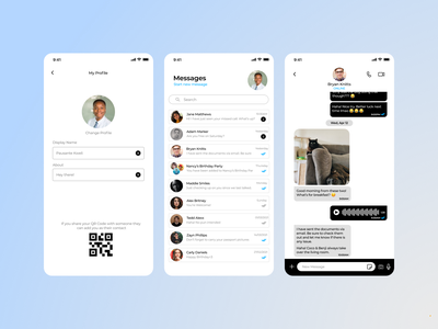 Direct Messaging App illustration ui ux app design dailyui