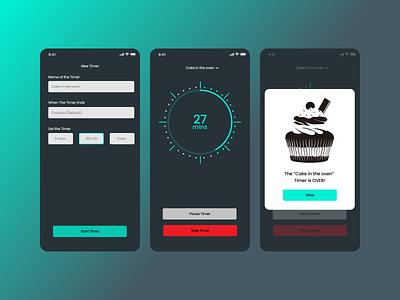 Countdown Timer app ui ux design dailyui