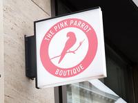 The Pink Parrot Boutique Logo