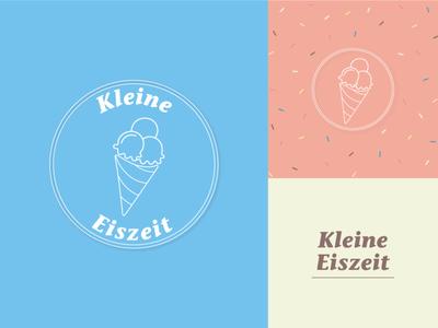 Kleine Eiszeit Branding ice cream shop ice cream logo graphic design illustrator logo design logo concept branding design
