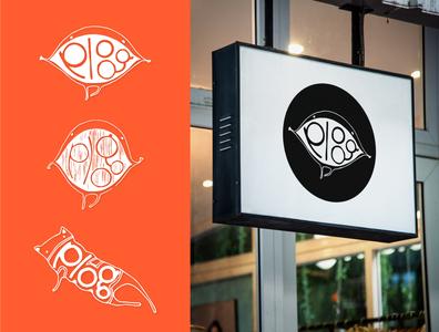 Plog Logo Drafts typography character cute logo design logo concept branding illustration design graphic design