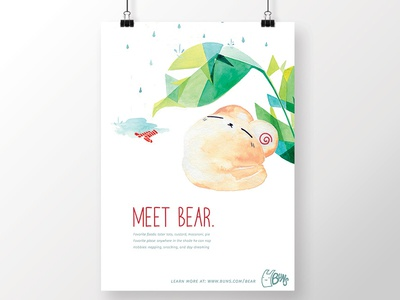 illustrated poster: bear for buns