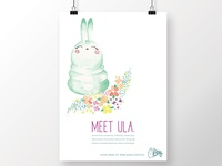 illustrated poster: ula for buns